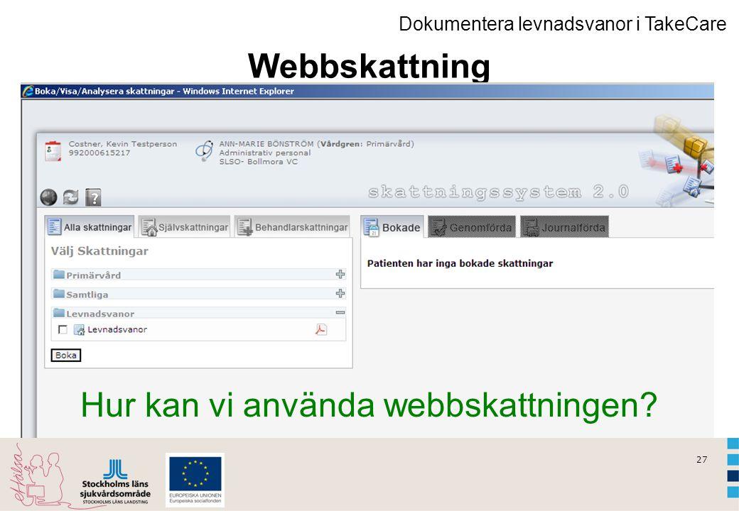 Hur kan vi använda webbskattningen