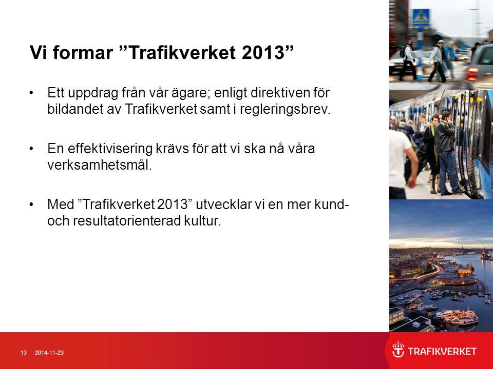 Vi formar Trafikverket 2013