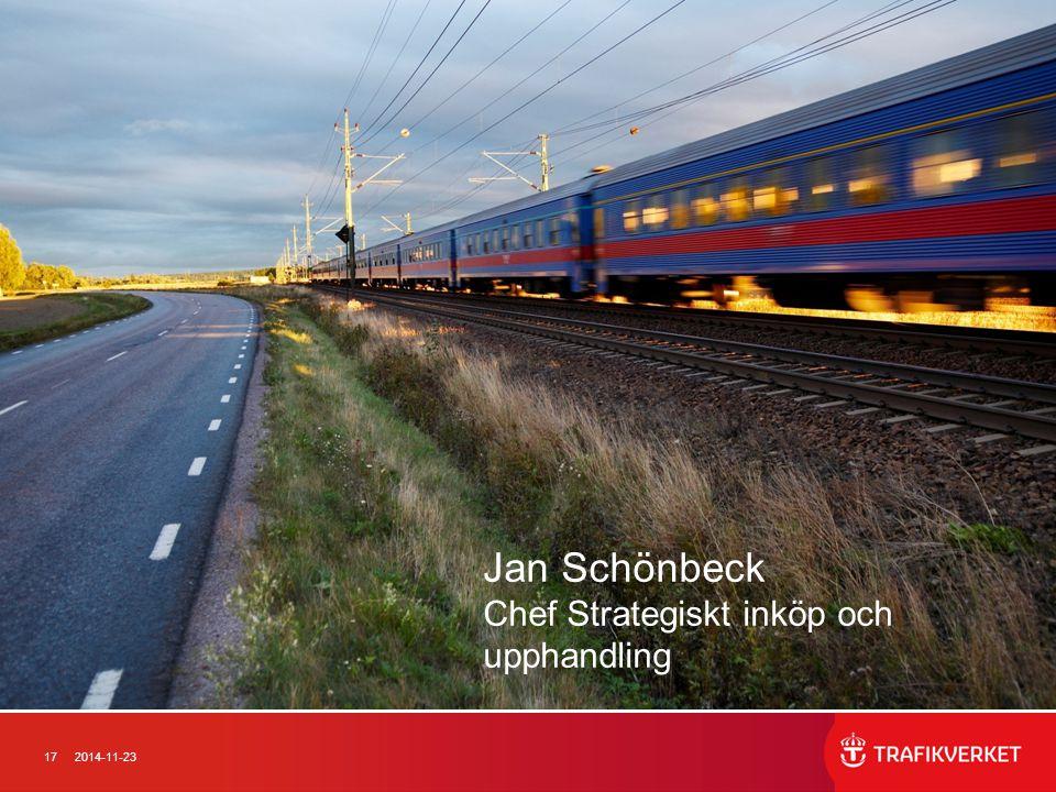 Jan Schönbeck Chef Strategiskt inköp och upphandling