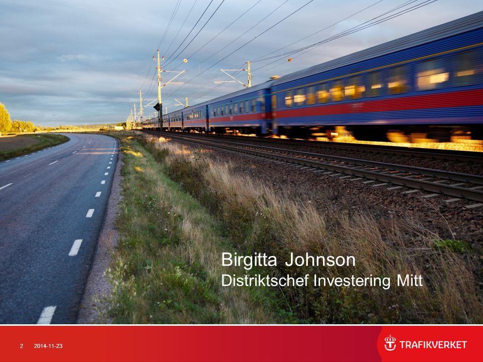 Birgitta Johnson Distriktschef Investering Mitt