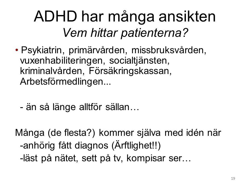 ADHD har många ansikten Vem hittar patienterna