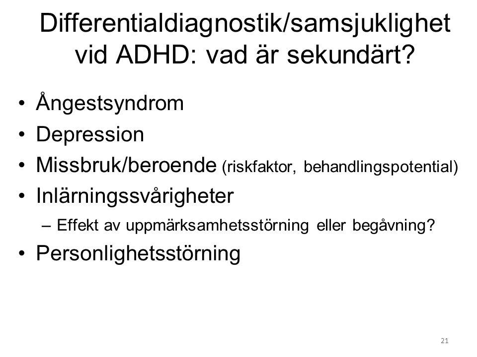 Differentialdiagnostik/samsjuklighet vid ADHD: vad är sekundärt