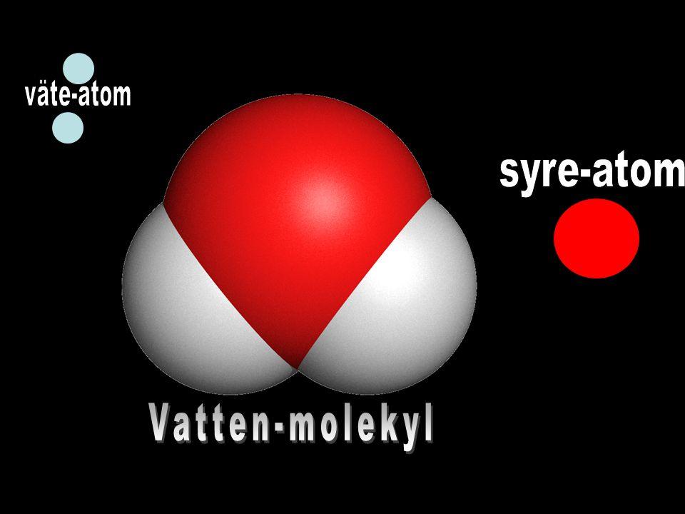 väte-atom syre-atom Vatten-molekyl