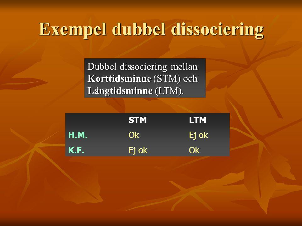Exempel dubbel dissociering