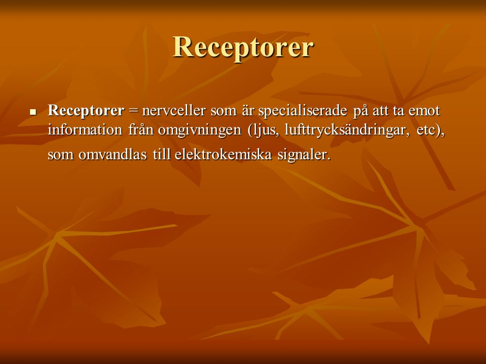 Receptorer