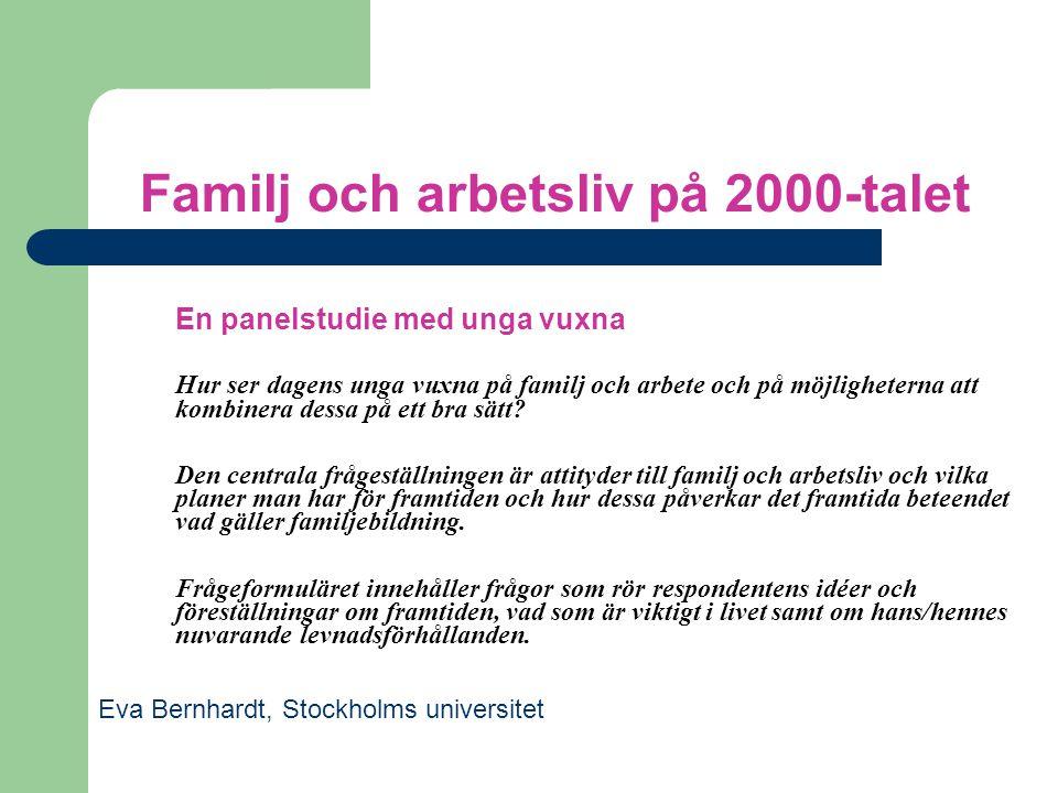 Familj och arbetsliv på 2000-talet