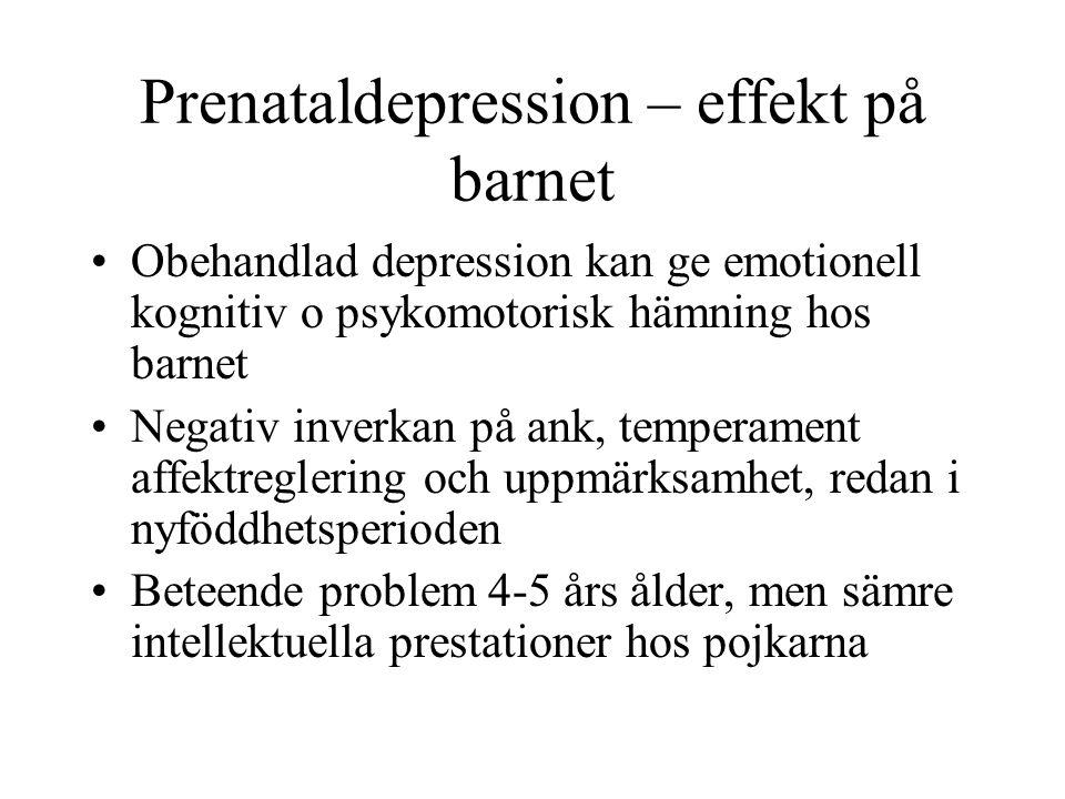 Prenataldepression – effekt på barnet