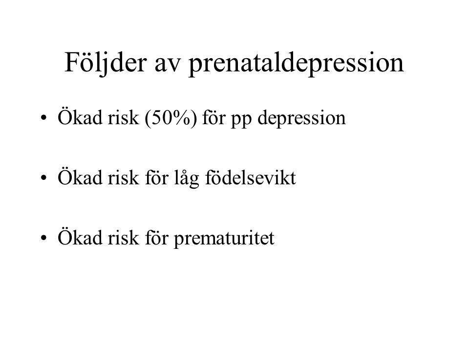 Följder av prenataldepression