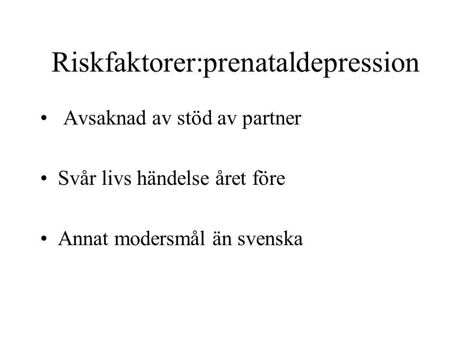 Riskfaktorer:prenataldepression