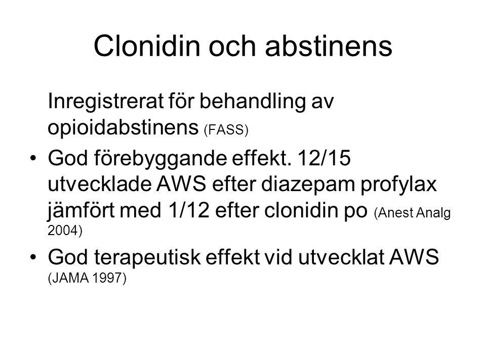 Clonidin och abstinens