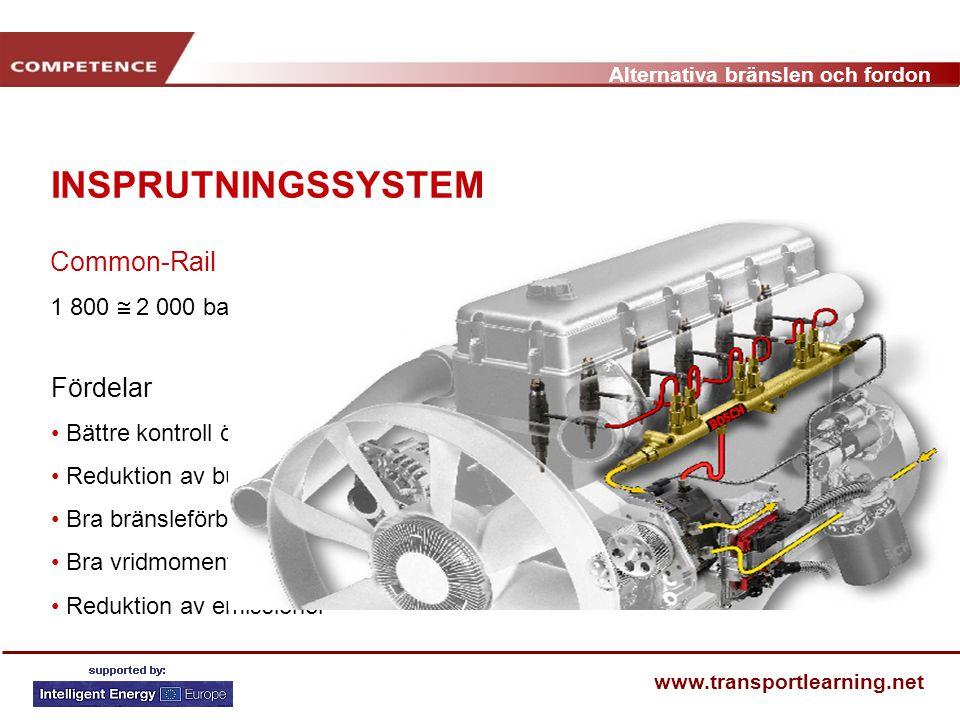 INSPRUTNINGSSYSTEM Common-Rail Fördelar Pressão máx. 1350 – 1500 bar