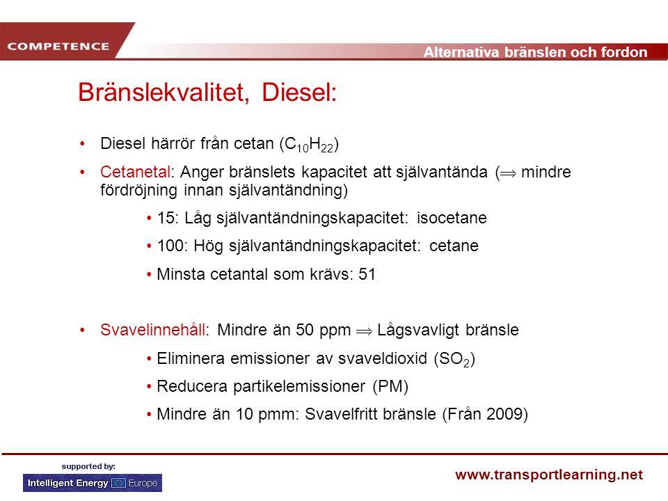 Bränslekvalitet, Diesel:
