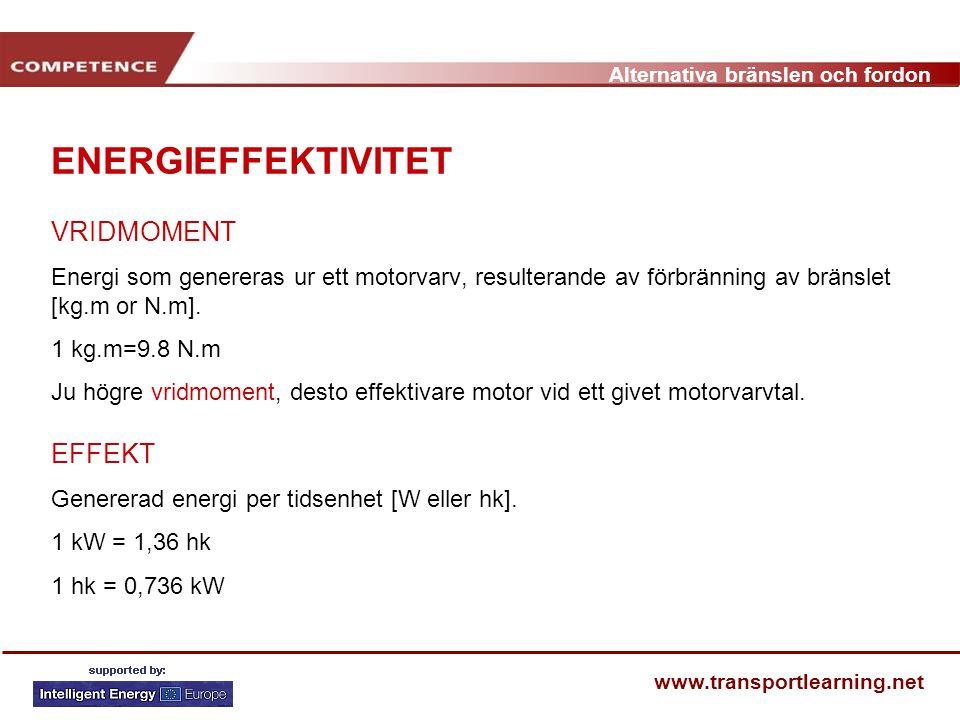 ENERGIEFFEKTIVITET VRIDMOMENT EFFEKT