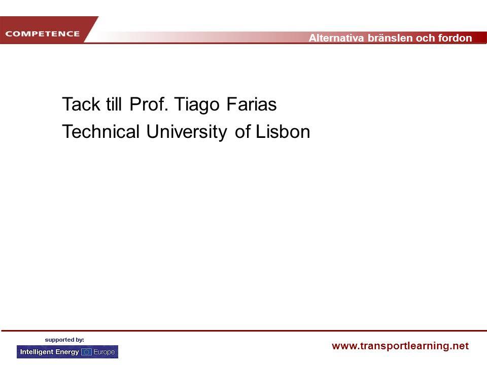 Tack till Prof. Tiago Farias