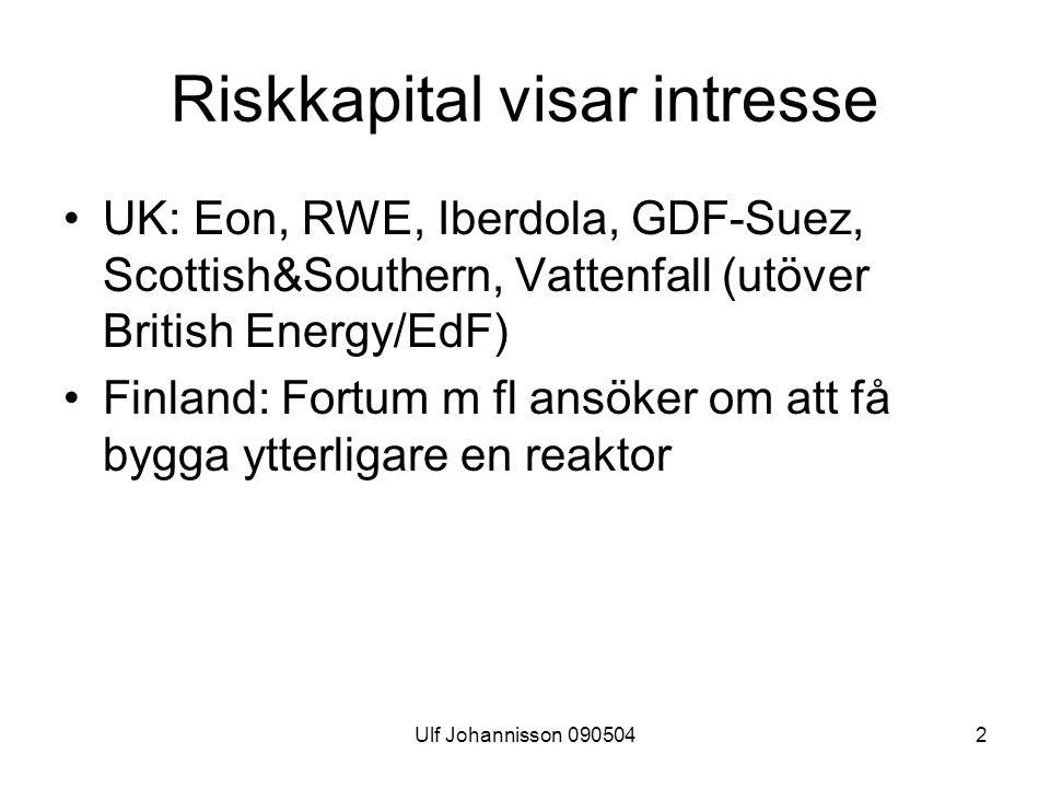 Riskkapital visar intresse