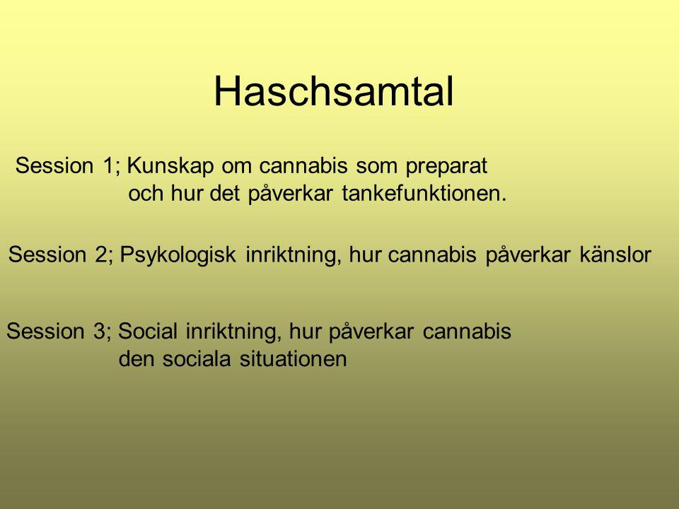 Haschsamtal Session 1; Kunskap om cannabis som preparat