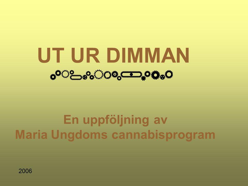 UT UR DIMMAN En uppföljning av Maria Ungdoms cannabisprogram