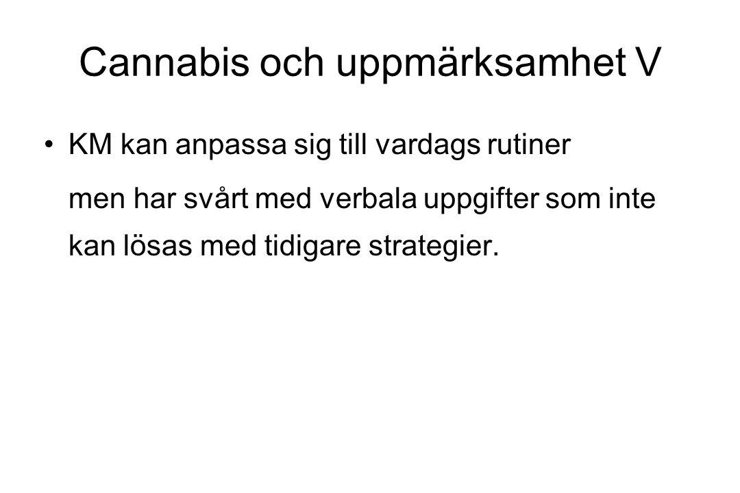 Cannabis och uppmärksamhet V