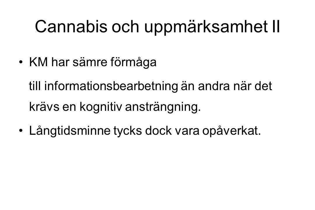 Cannabis och uppmärksamhet II