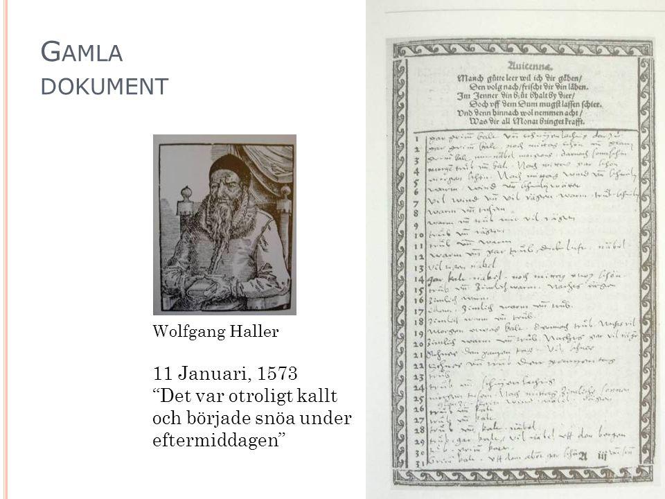 Gamla dokument 11 Januari, 1573