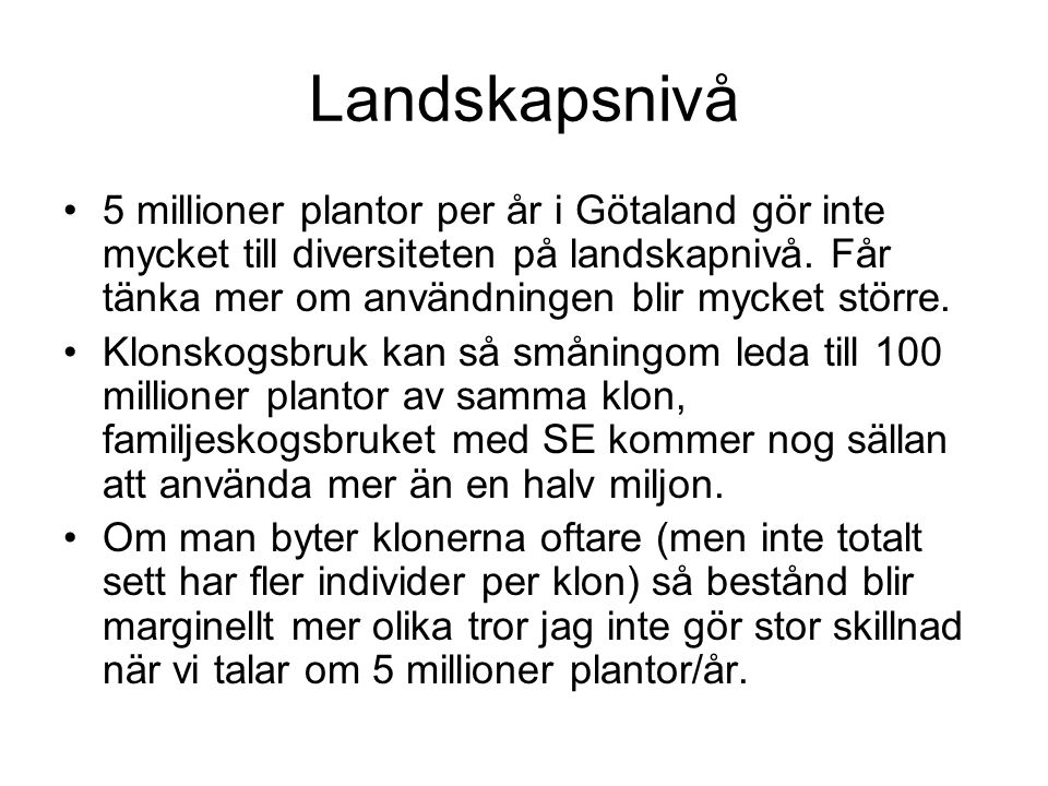 Landskapsnivå