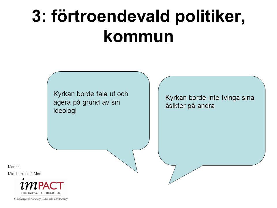 3: förtroendevald politiker, kommun