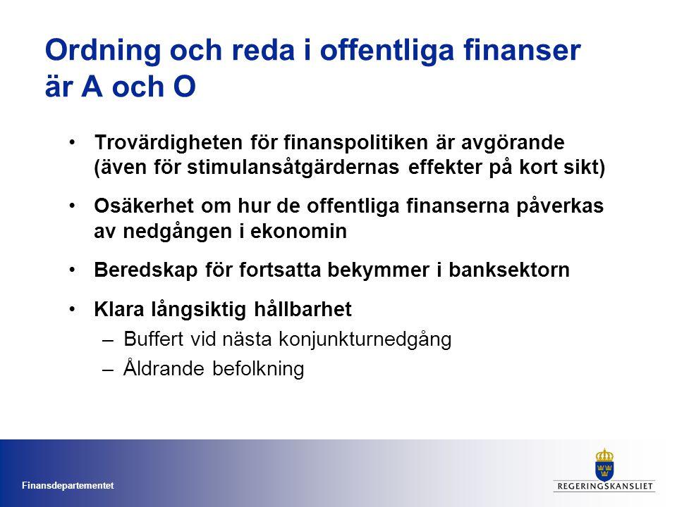 Ordning och reda i offentliga finanser är A och O