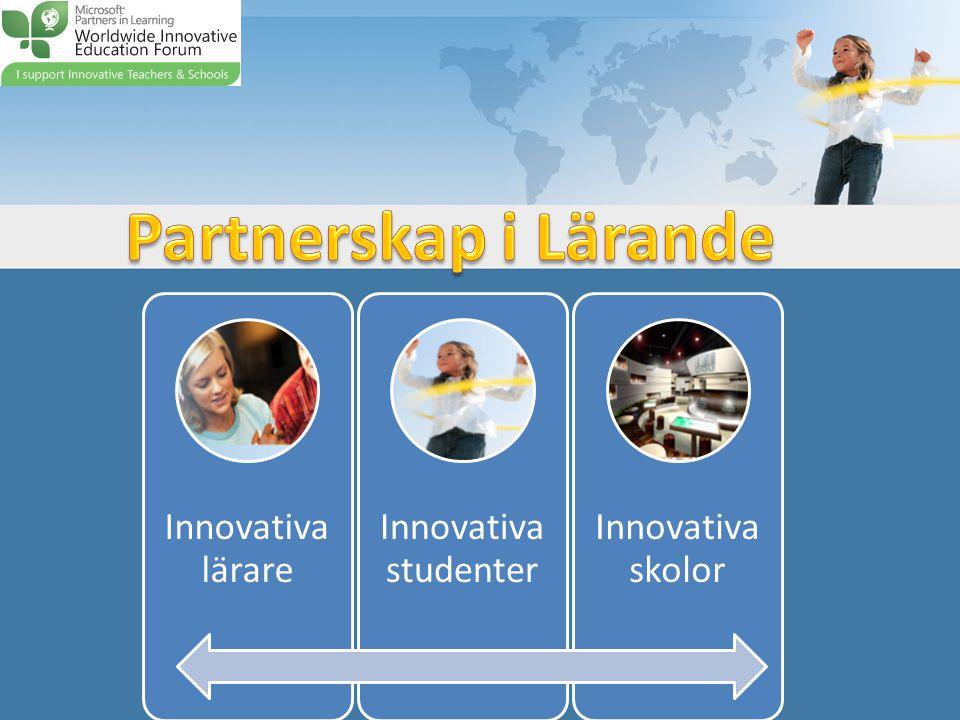 Partnerskap i Lärande Innovativa lärare Innovativa studenter