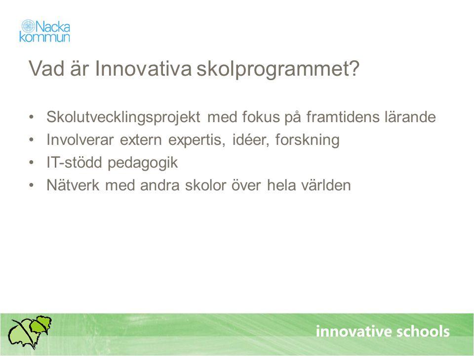 Vad är Innovativa skolprogrammet