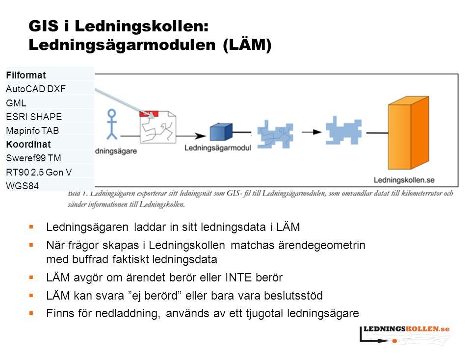 GIS i Ledningskollen: Ledningsägarmodulen (LÄM)