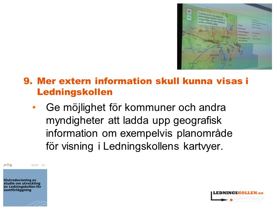 9. Mer extern information skull kunna visas i Ledningskollen