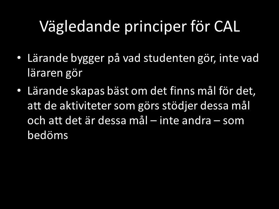 Vägledande principer för CAL