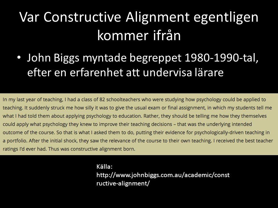 Var Constructive Alignment egentligen kommer ifrån