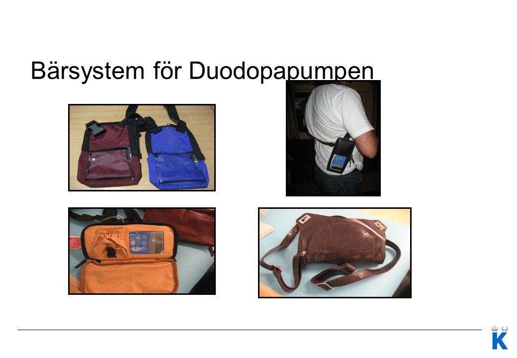 Bärsystem för Duodopapumpen