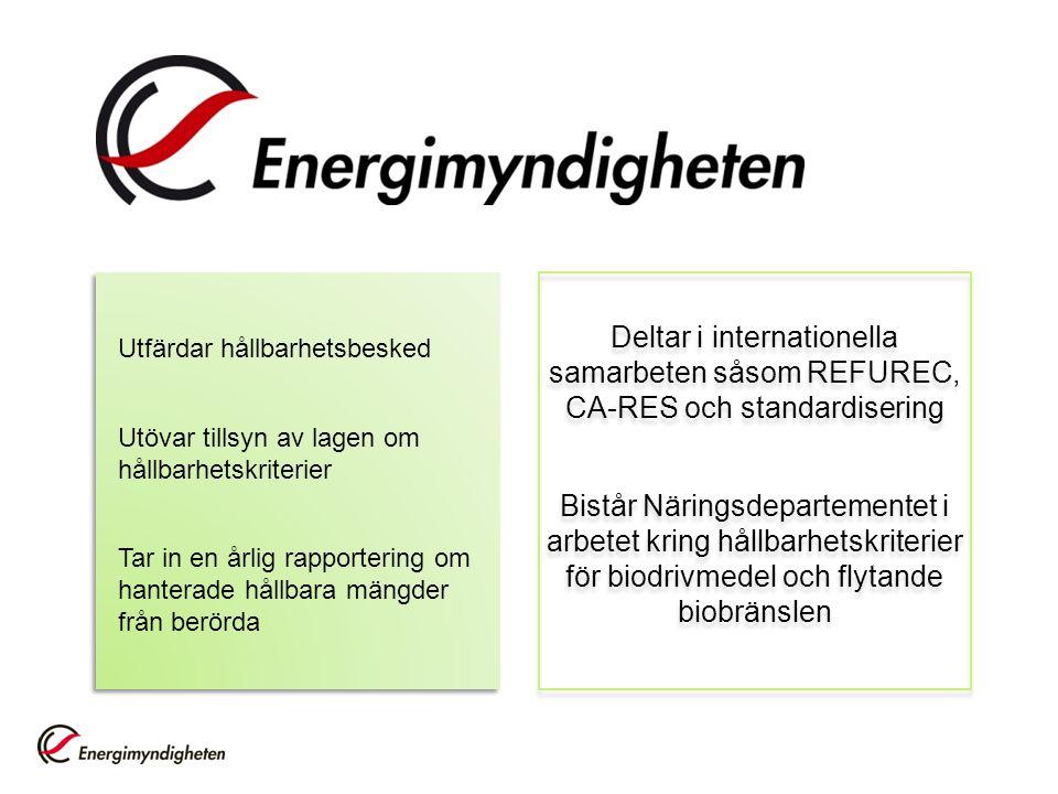 Utfärdar hållbarhetsbesked