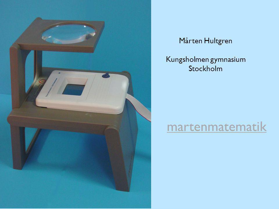 Mårten Hultgren Kungsholmen gymnasium Stockholm martenmatematik