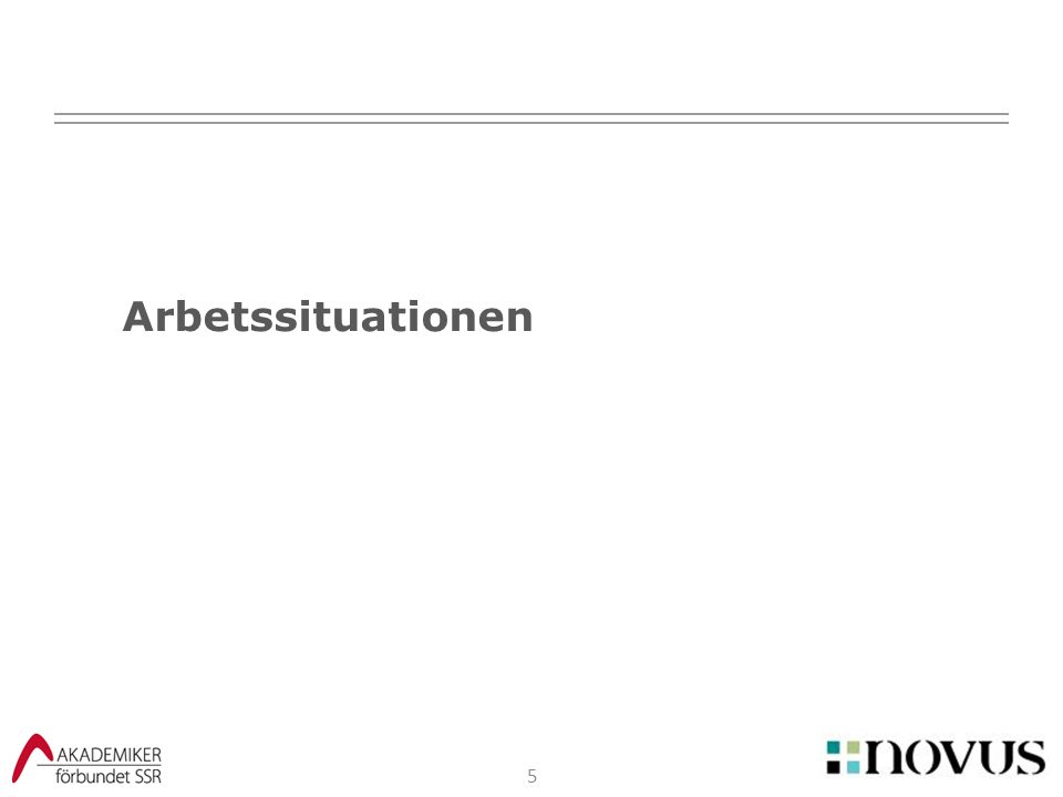 Arbetssituationen