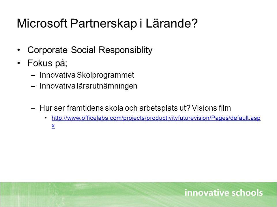 Microsoft Partnerskap i Lärande
