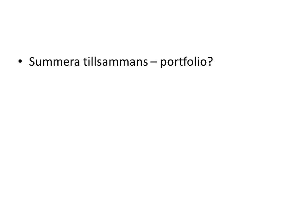 Summera tillsammans – portfolio