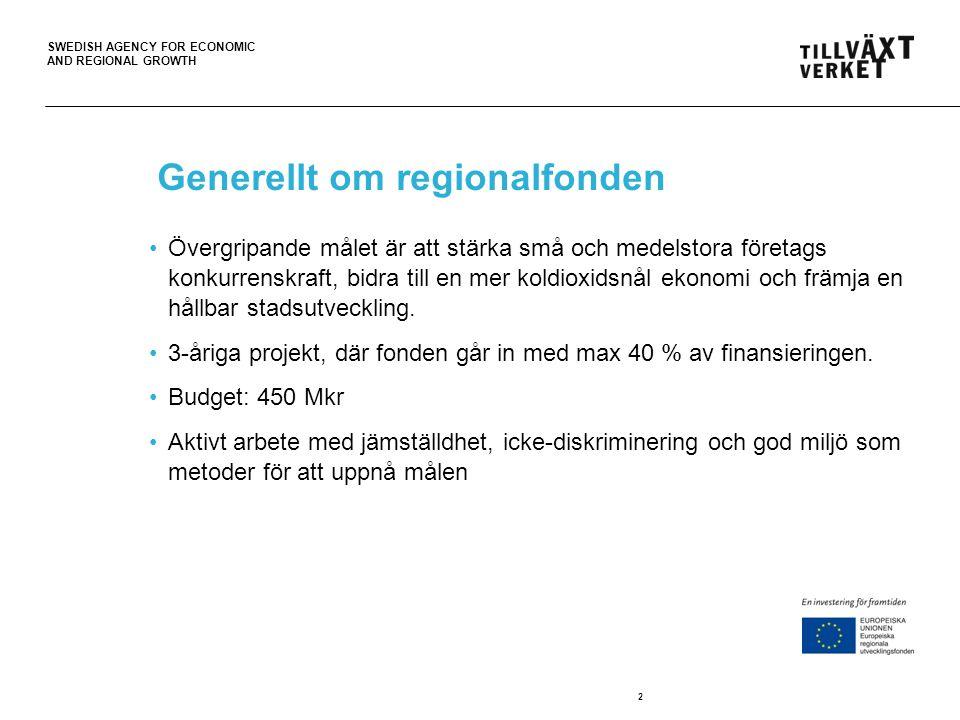 Generellt om regionalfonden