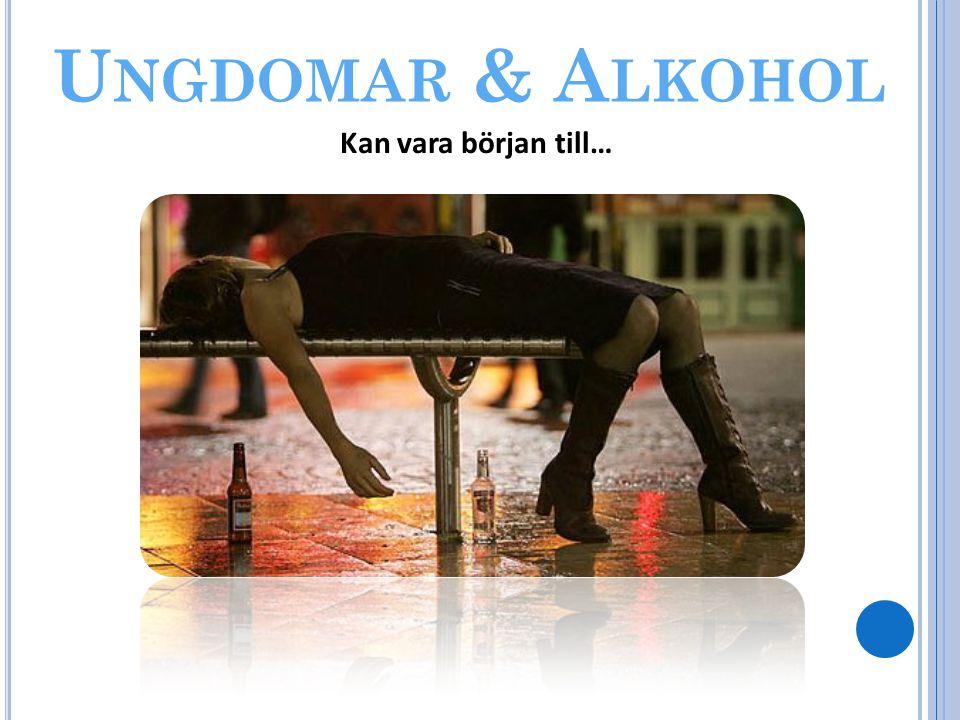 Ungdomar & Alkohol Kan vara början till…