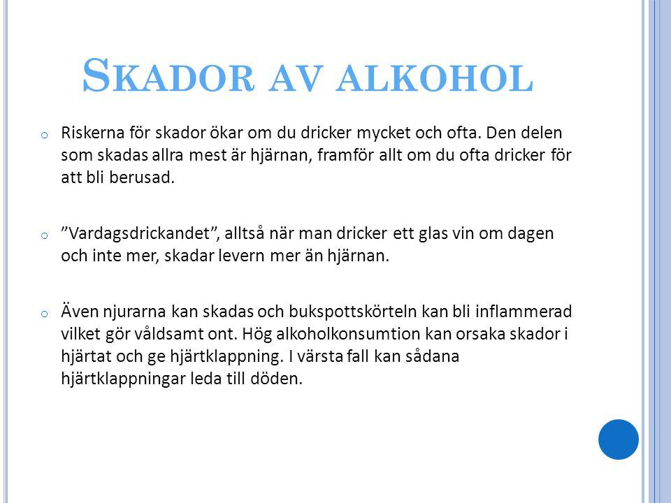 Skador av alkohol