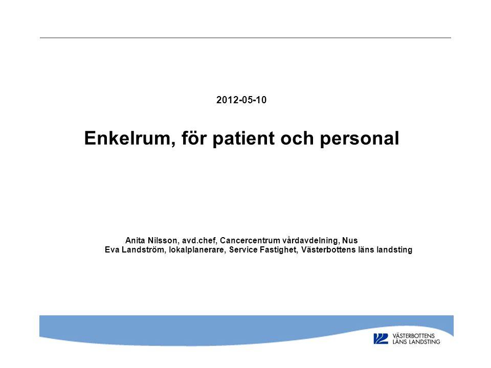 2012-05-10 Enkelrum, för patient och personal Anita Nilsson, avd