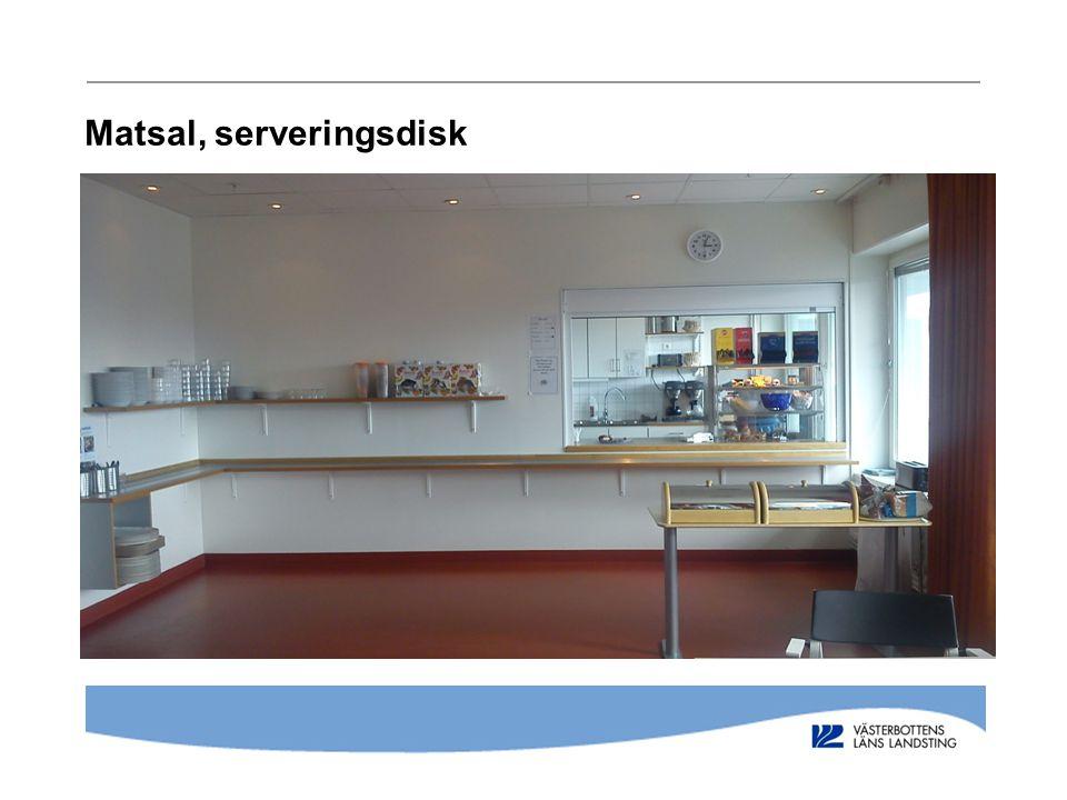 Matsal, serveringsdisk
