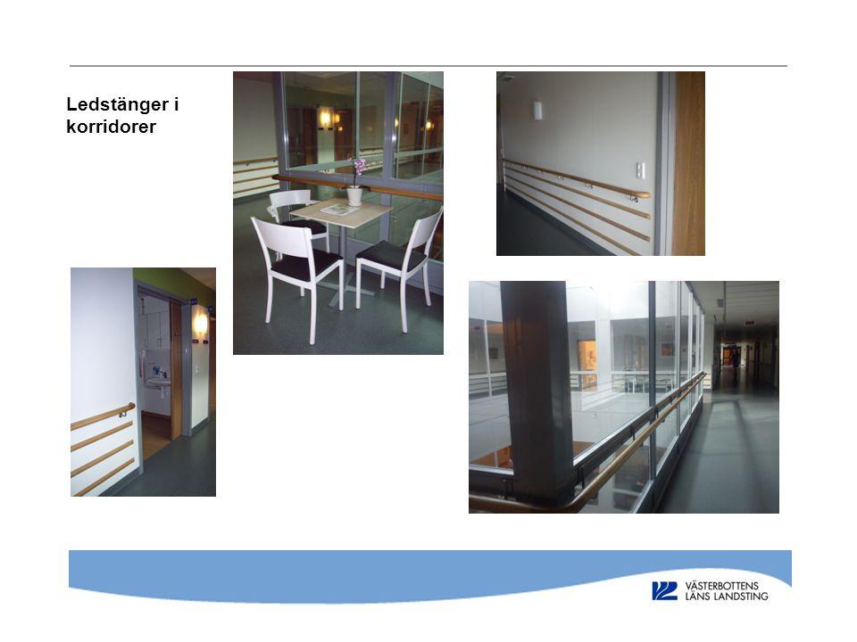Ledstänger i korridorer