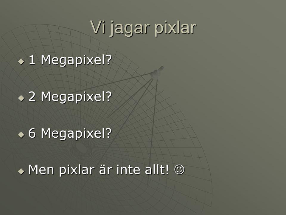Vi jagar pixlar 1 Megapixel 2 Megapixel 6 Megapixel