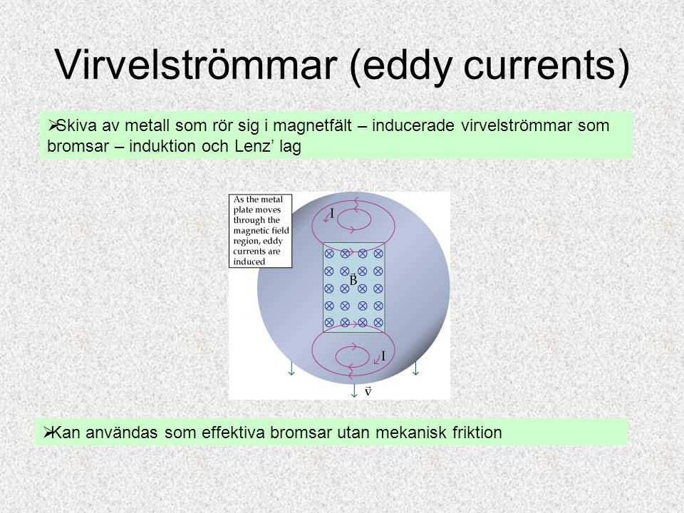Virvelströmmar (eddy currents)