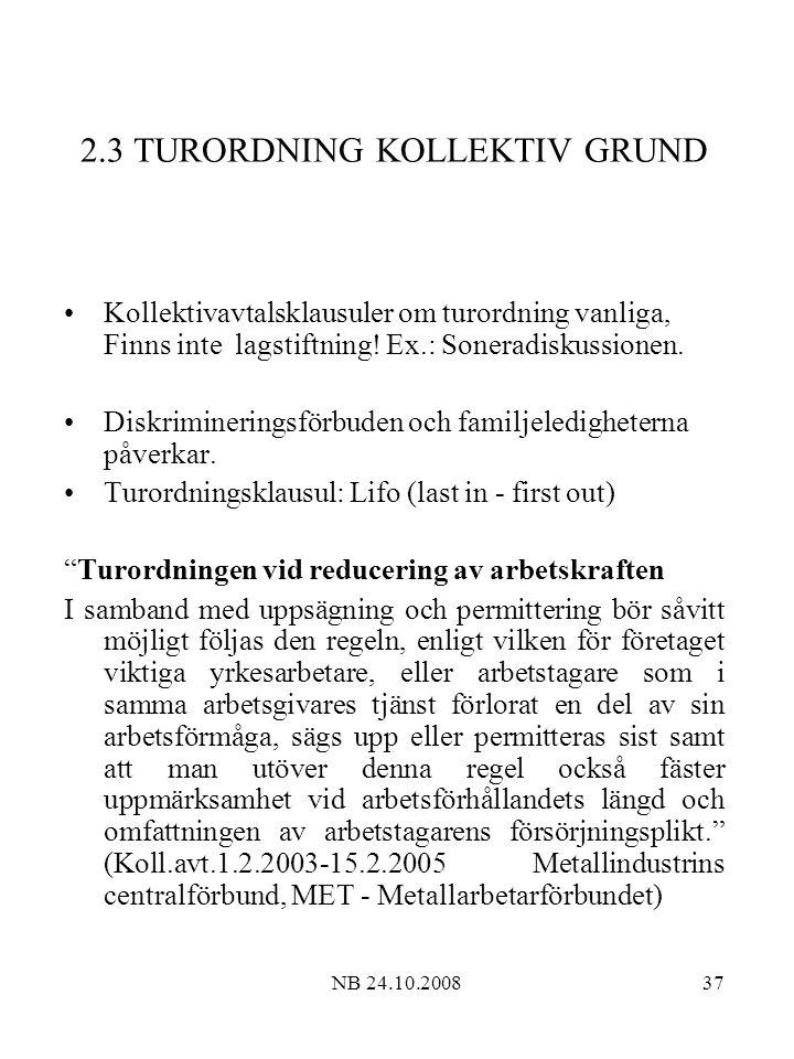2.3 TURORDNING KOLLEKTIV GRUND
