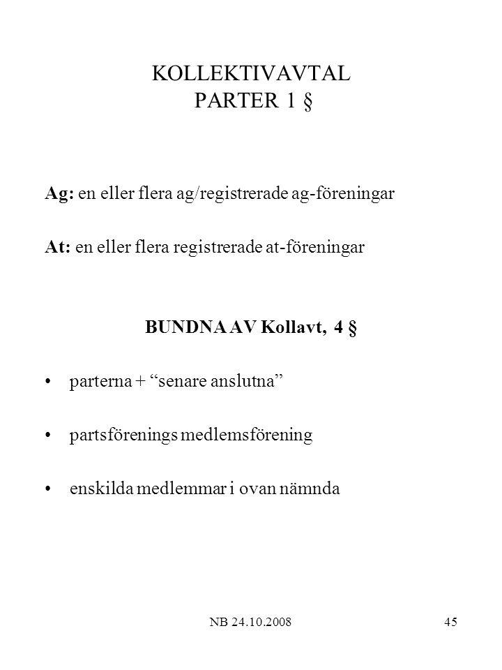 KOLLEKTIVAVTAL PARTER 1 §