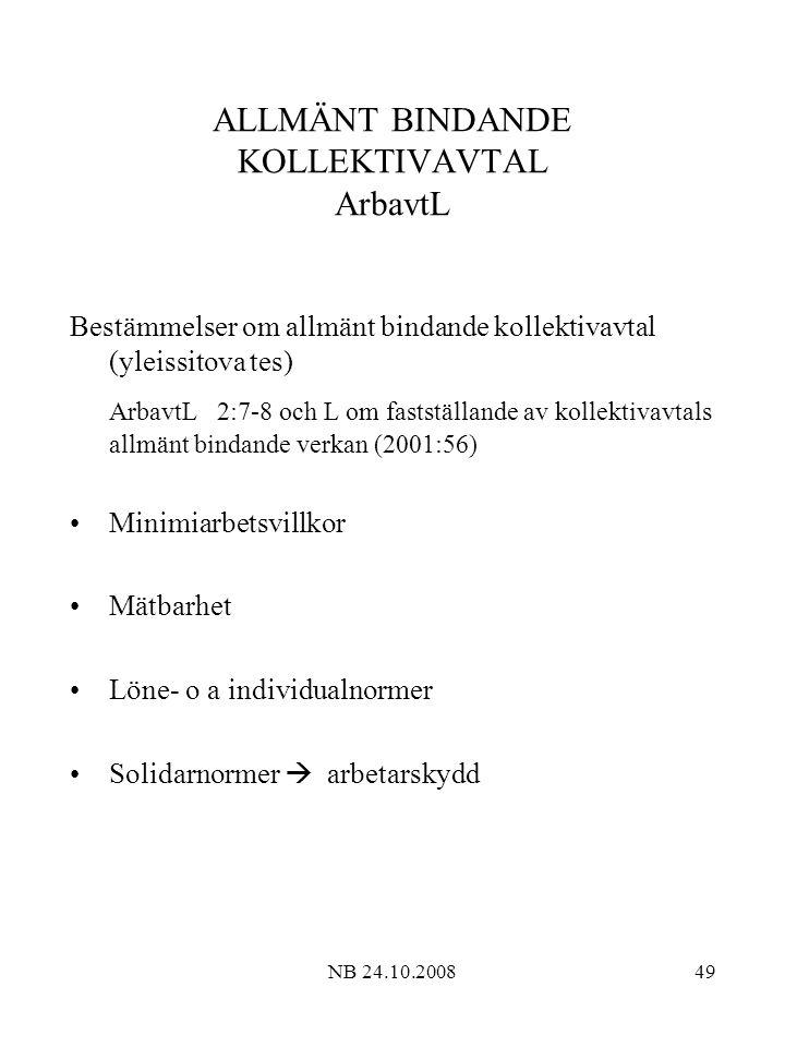 ALLMÄNT BINDANDE KOLLEKTIVAVTAL ArbavtL